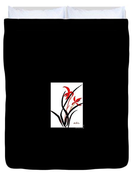Chinese Flowers Duvet Cover by Marsha Heiken
