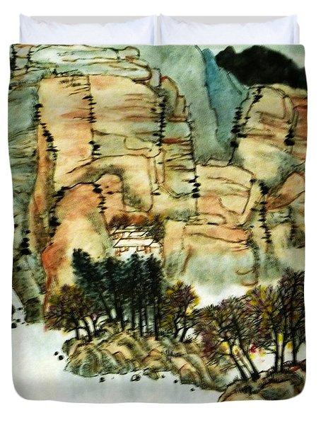 Chinese Landscape #1 Duvet Cover