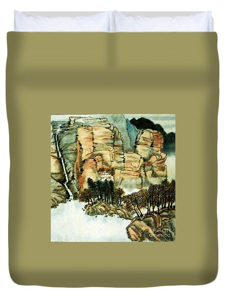 Chinese Landscape #1 Duvet Cover