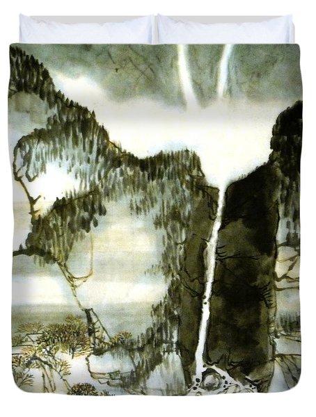 Chinese Landscape #2 Duvet Cover