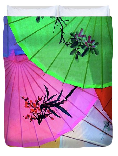 Chinese Parasols Duvet Cover