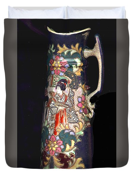 Chinese Pitcher -  More Than 100 Years Old Duvet Cover