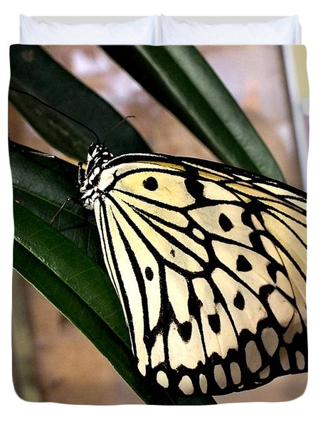 Chinese Yellow Swallowtail Duvet Cover