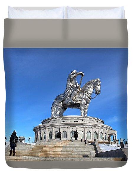 Chinggis Khan Statue/tsagaan Sar Duvet Cover