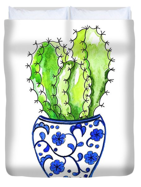 Chinoiserie Cactus No3 Duvet Cover