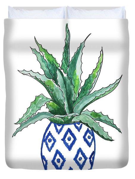 Chinoiserie Cactus Duvet Cover