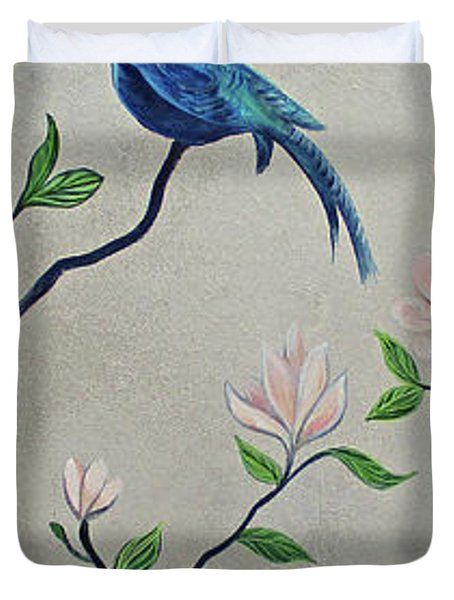 Chinoiserie - Magnolias And Birds #4 Duvet Cover