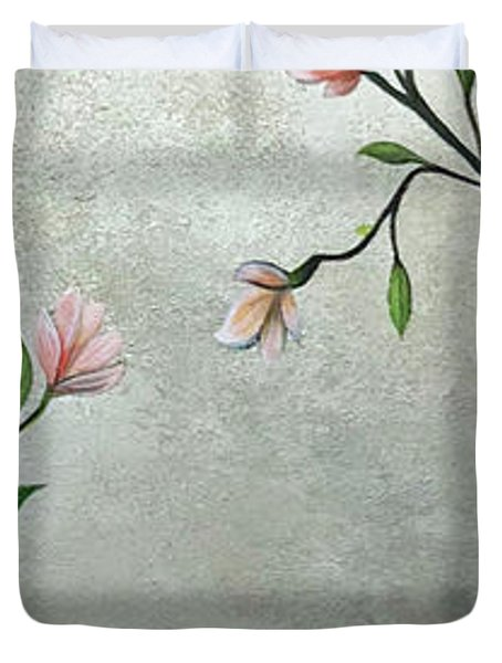 Chinoiserie - Magnolias And Birds Duvet Cover