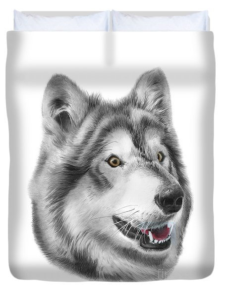Duvet Cover featuring the drawing Chinook by Peter Piatt