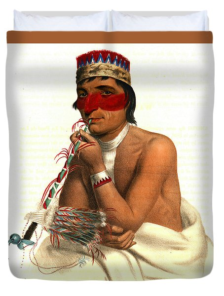 Duvet Cover featuring the photograph Chippeway Chief 1836 by Padre Art