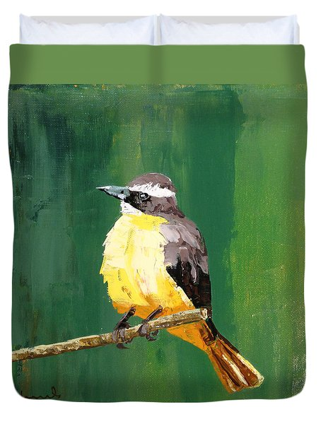 Chirping Charlie Duvet Cover