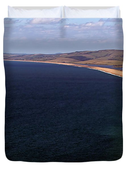 Chesill Beach Dorset Duvet Cover