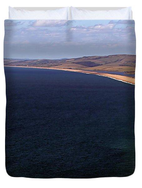 Chesill Beach Dorset Duvet Cover by Stephen Melia