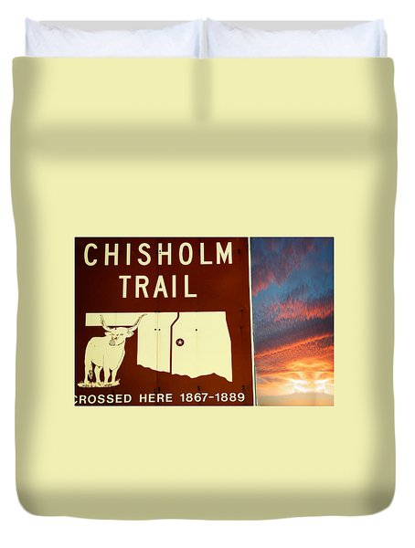 Duvet Cover featuring the photograph Chisholm Trail Oklahoma by Bob Pardue
