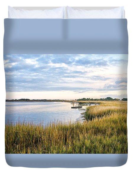 Chisolm Island Shoreline  Duvet Cover by Scott Hansen