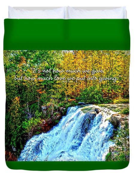Chittenango Falls, Ny Mother Teresa  Duvet Cover by Diane E Berry