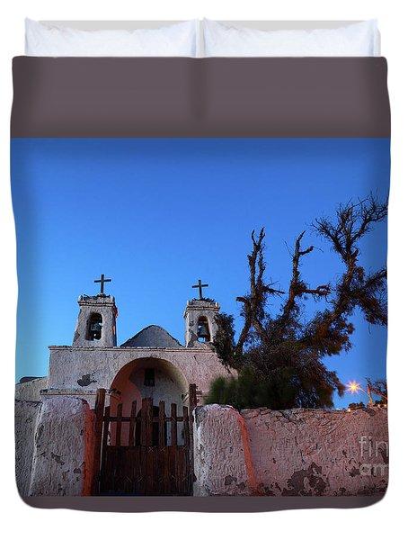 Chiu Chiu Church At Twilight Chile Duvet Cover by James Brunker