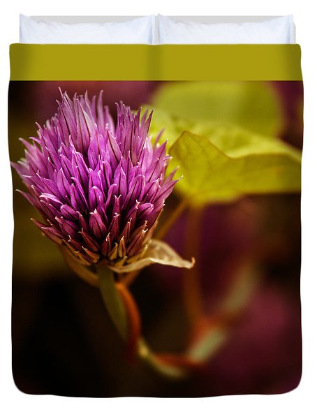 Chive Blossom - Square Duvet Cover
