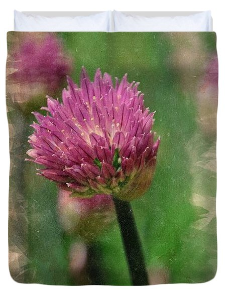 Chive Blossoms In June Duvet Cover