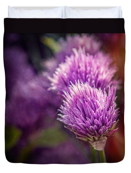 Chive Blossoms - Square Duvet Cover
