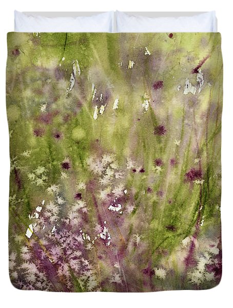 Chive Garden Duvet Cover by Judith Levins