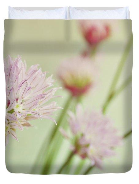 Chives In Flower Duvet Cover