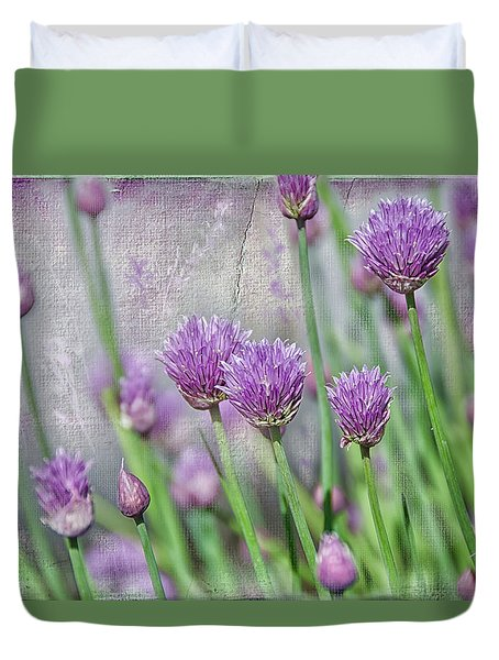 Chives In Texture Duvet Cover