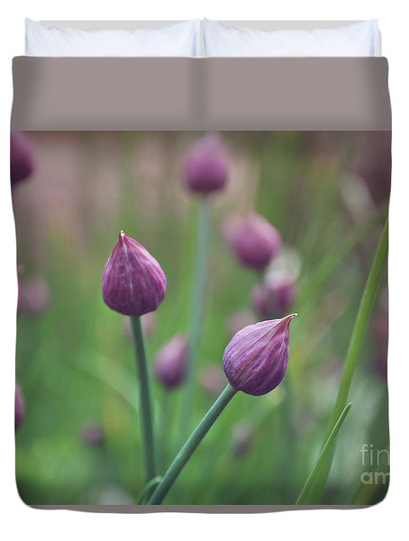 Chives Duvet Cover by Lyn Randle