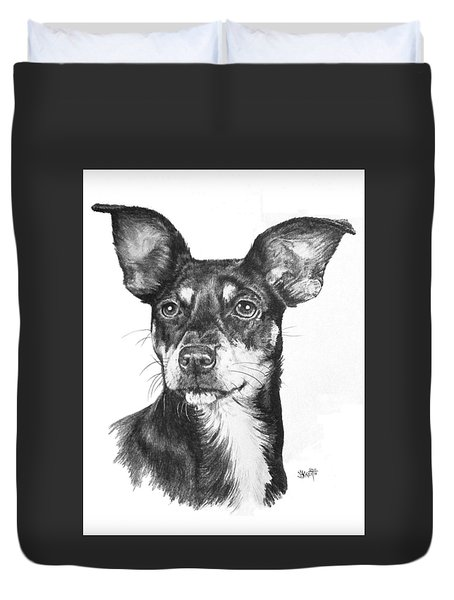 Chiweenie Duvet Cover by Barbara Keith