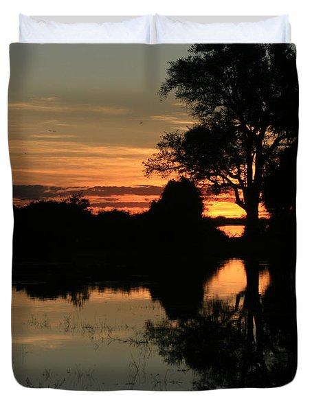 Chobe River Sunset Duvet Cover