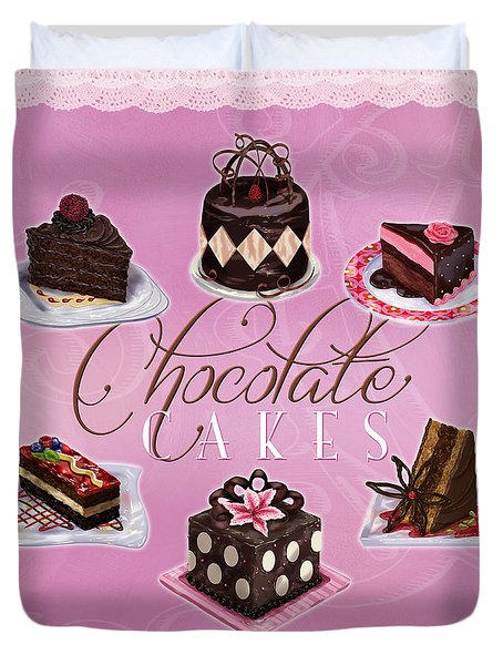 Chocolate Cakes Duvet Cover