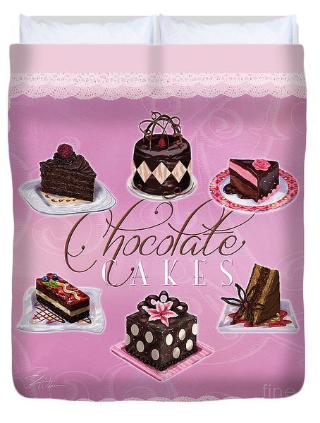 Chocolate Cakes Duvet Cover