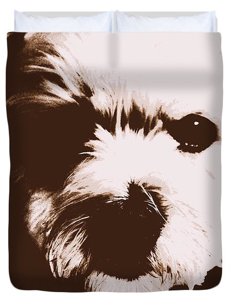 Chocolate Charlie Duvet Cover by Ed Smith