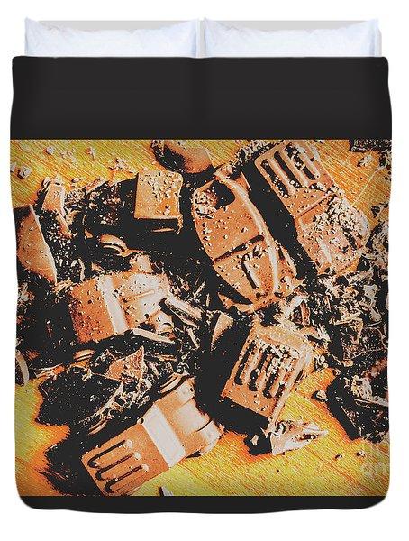 Chocolate Demolition Derby Duvet Cover