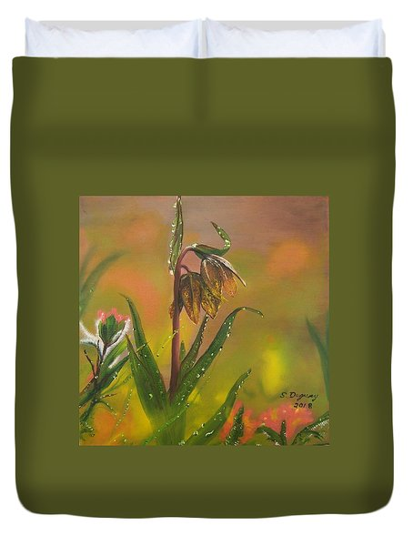 Chocolate Lily After The Rain Duvet Cover