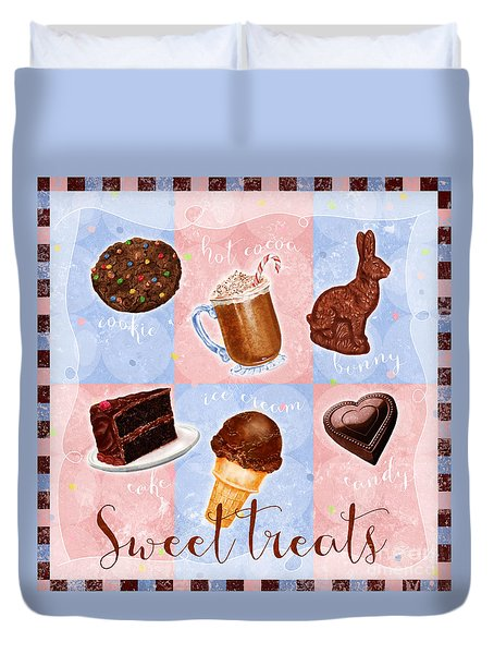 Chocolate Sweet Treats Duvet Cover