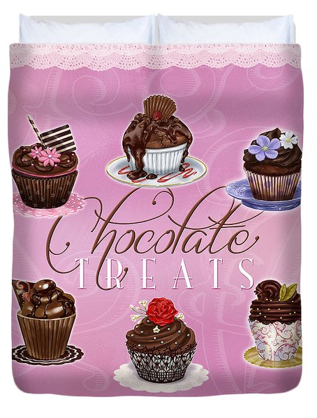 Chocolate Treats Duvet Cover