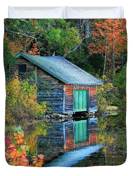 Chocorua Boathouse Duvet Cover