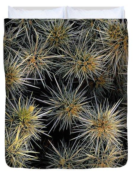Cholla Cactus Cluster Duvet Cover