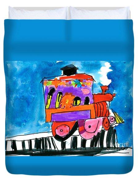 Choochoo Train Duvet Cover