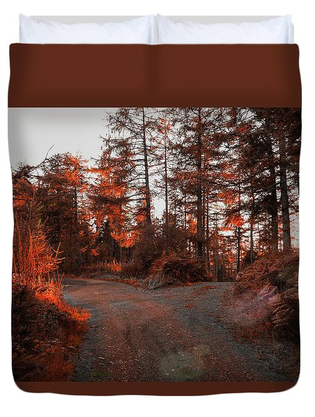 Choose The Road Less Travelled Duvet Cover