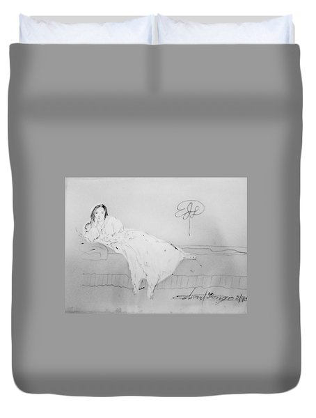 Chopin's Woman Duvet Cover