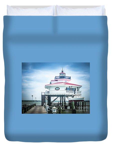 Choptank River Lighthouse Duvet Cover