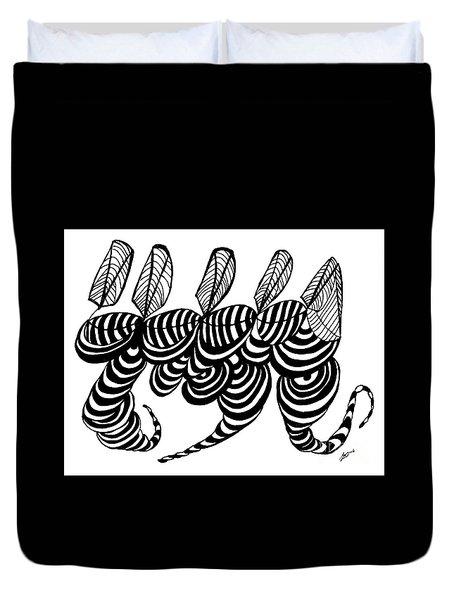 Chorus Line Abstract Rd121 Duvet Cover