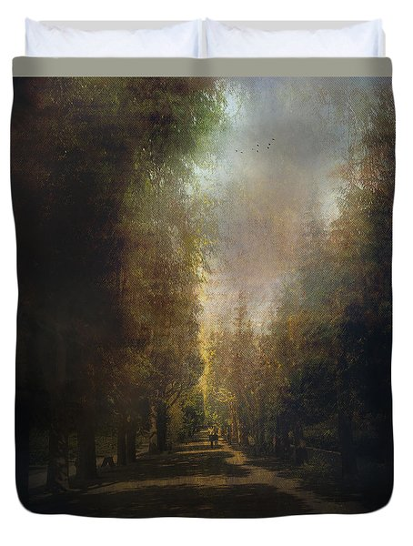 Duvet Cover featuring the photograph Chosen Path  by John Rivera