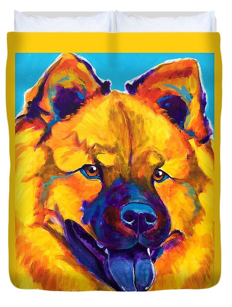 Chow Chow - Giggles Duvet Cover