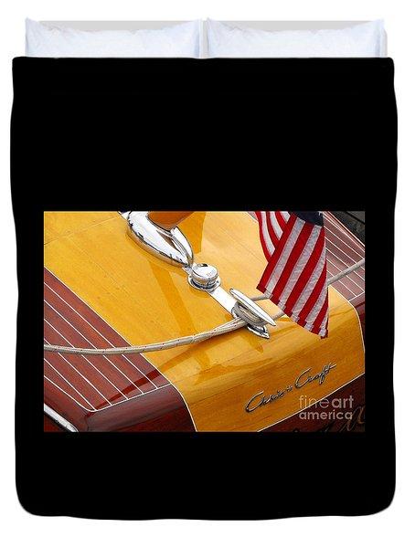 Chris Craft Custom Duvet Cover by Neil Zimmerman