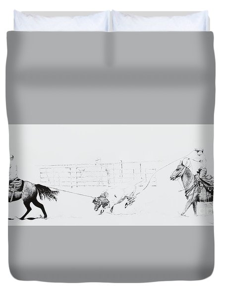 Chris Moore Suggie Horses Only Duvet Cover by Tracy L Teeter