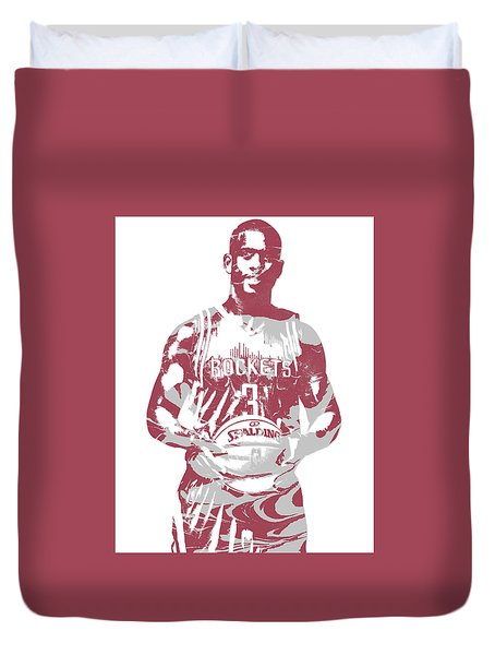 Chris Paul Houston Rockets Pixel Art 2 Duvet Cover