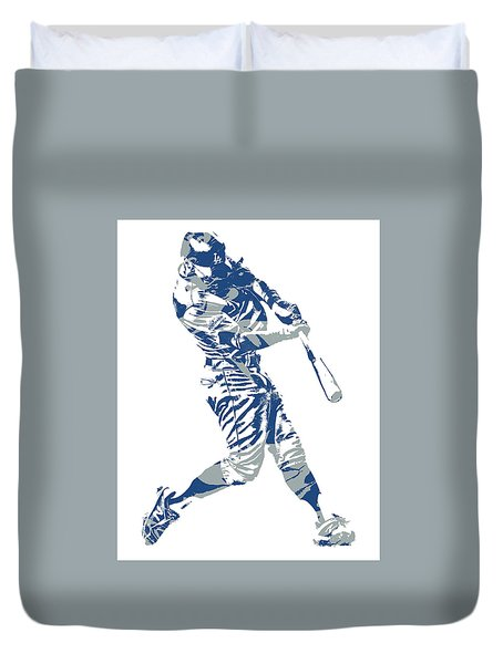 Chris Taylor Los Angeles Dodgers Home Run Duvet Cover